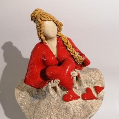 Escultura - Bailarina dos Corações