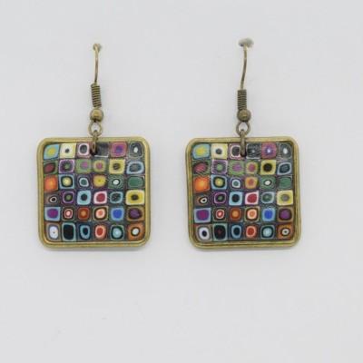 Brincos Klimt Preto