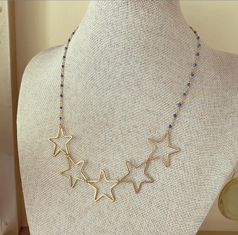 Colar Azul 5 Estrelas