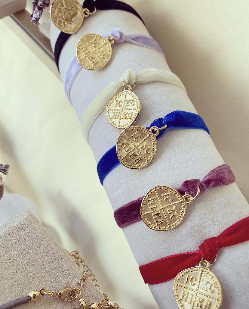 Pulseira Veludo Medalha