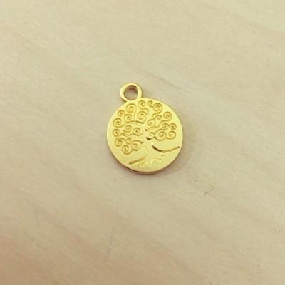 Medalha Árvore Dourada Mate
