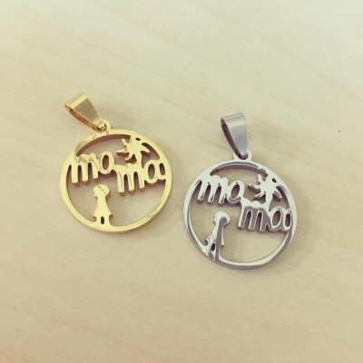 Medalha Mamã Circular Recortada Sol