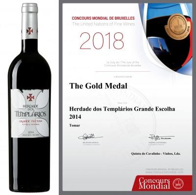 Medalha de Ouro no Concours Mondial de Bruxelles