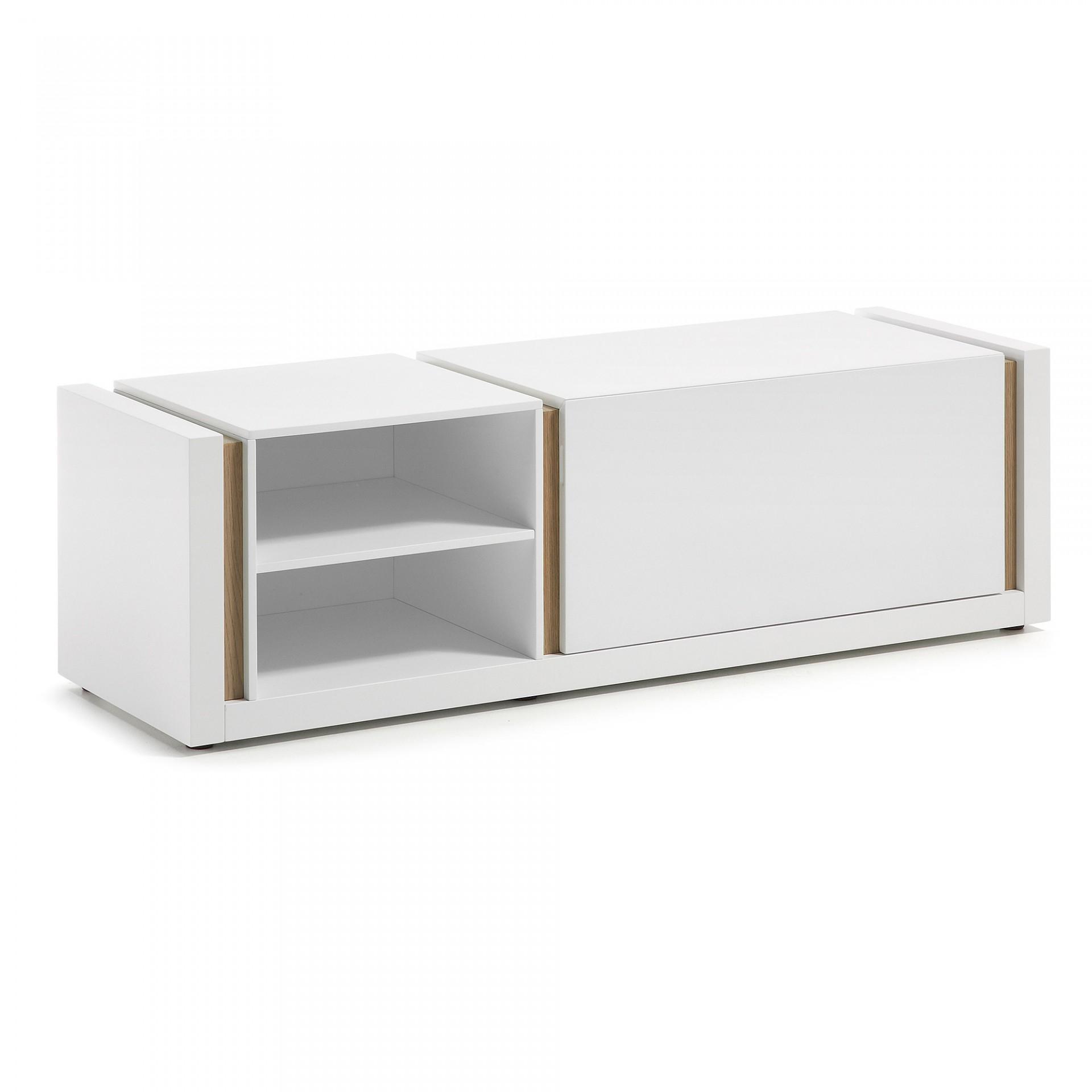 Móvel TV Dip, madeira de carvalho/MDF lacado, 140x42