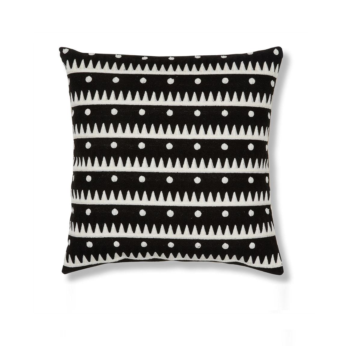 Capa de almofada News, padrão bordado, 45x45