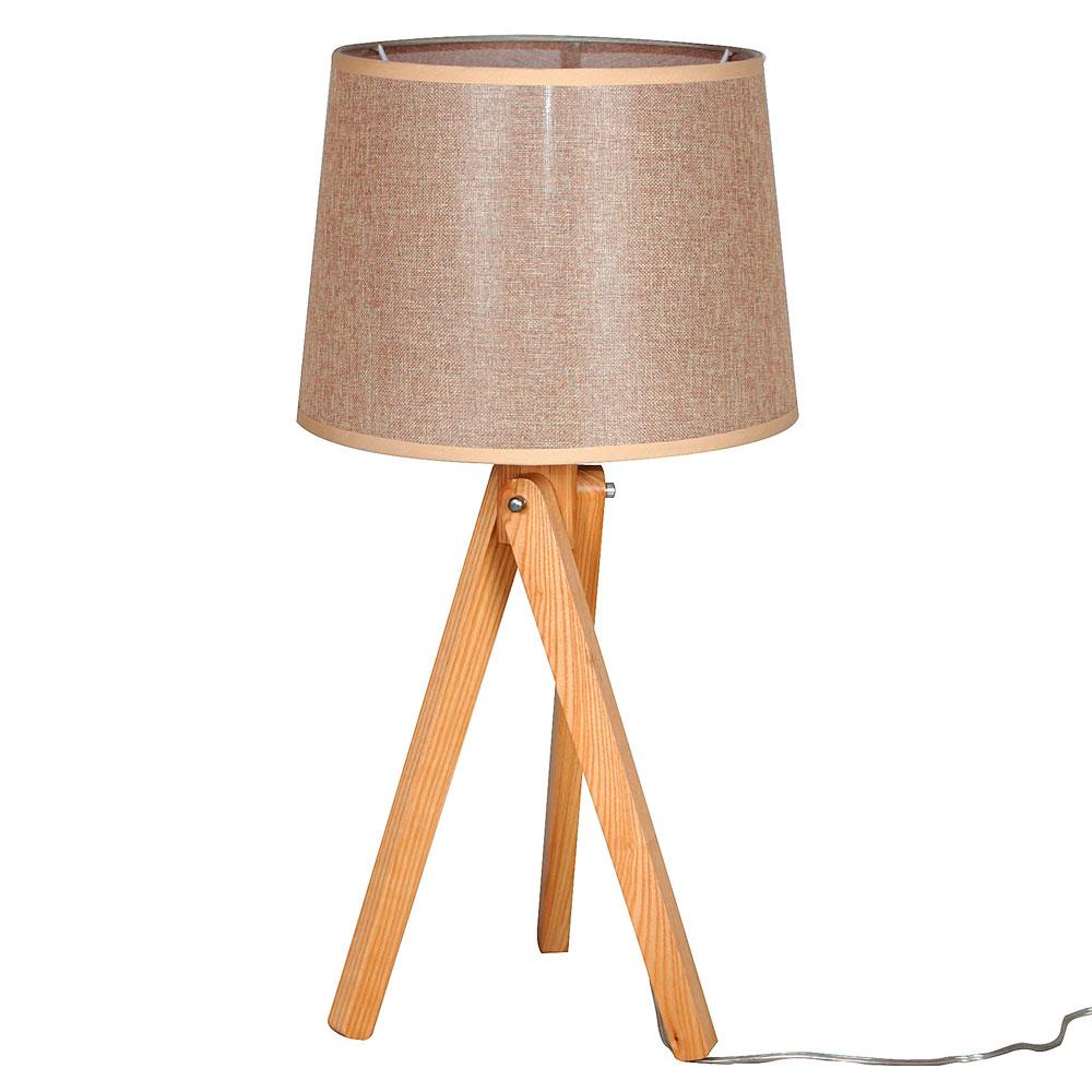 Candeeiro de mesa Reggi, madeira, Ø35x70