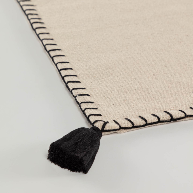 Tapete Anya, algodão, bege, 90x50