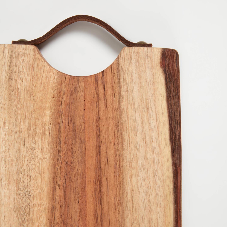 Tábua de cozinha Ladi, madeira de acácia, 30x15cm