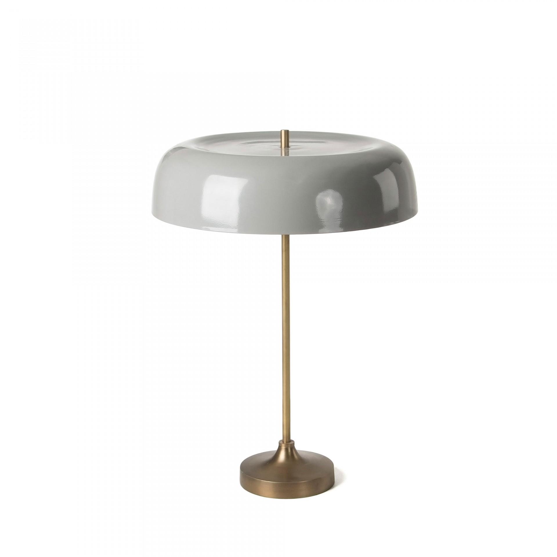 Candeeiro de mesa Bery, metal, cinza/dourado, Ø41x55