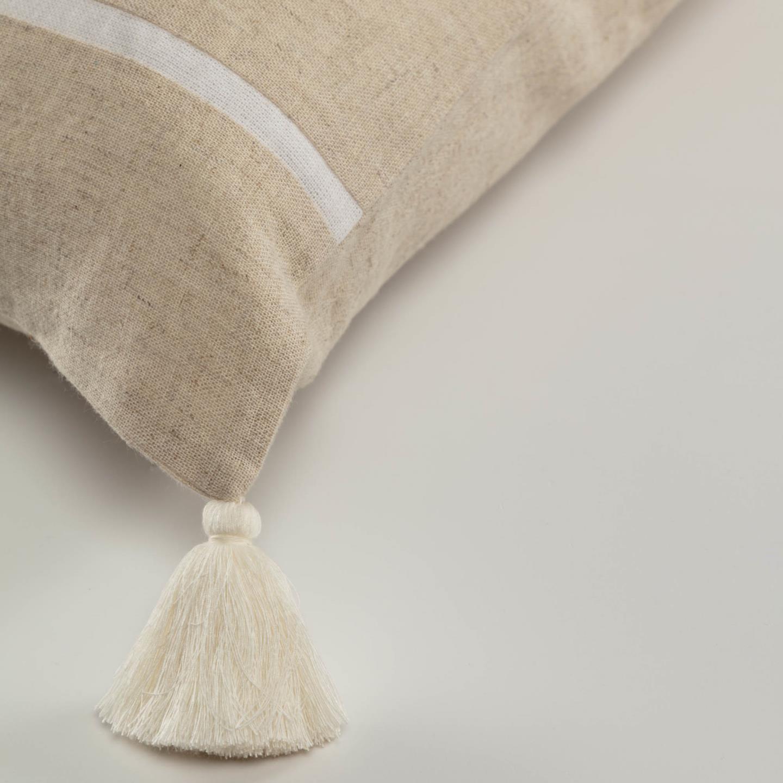 Capa de almofada Silina, bege, 45x45