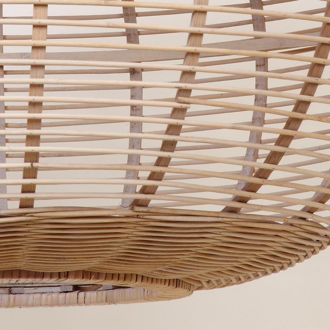 Candeeiro de tecto, bambu natural, Ø55x34