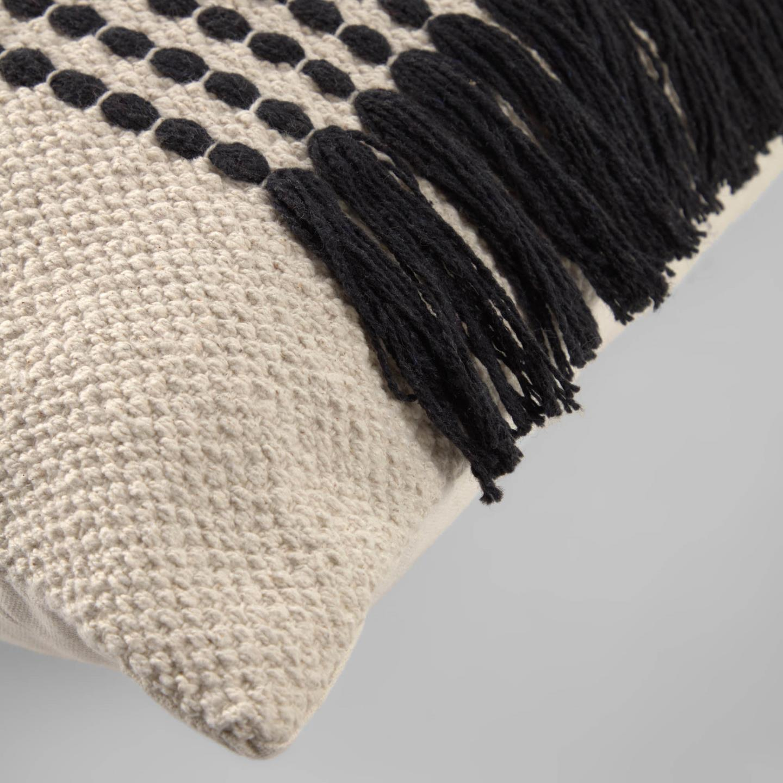 Capa de almofada Adelia, bege/preto, 45x45
