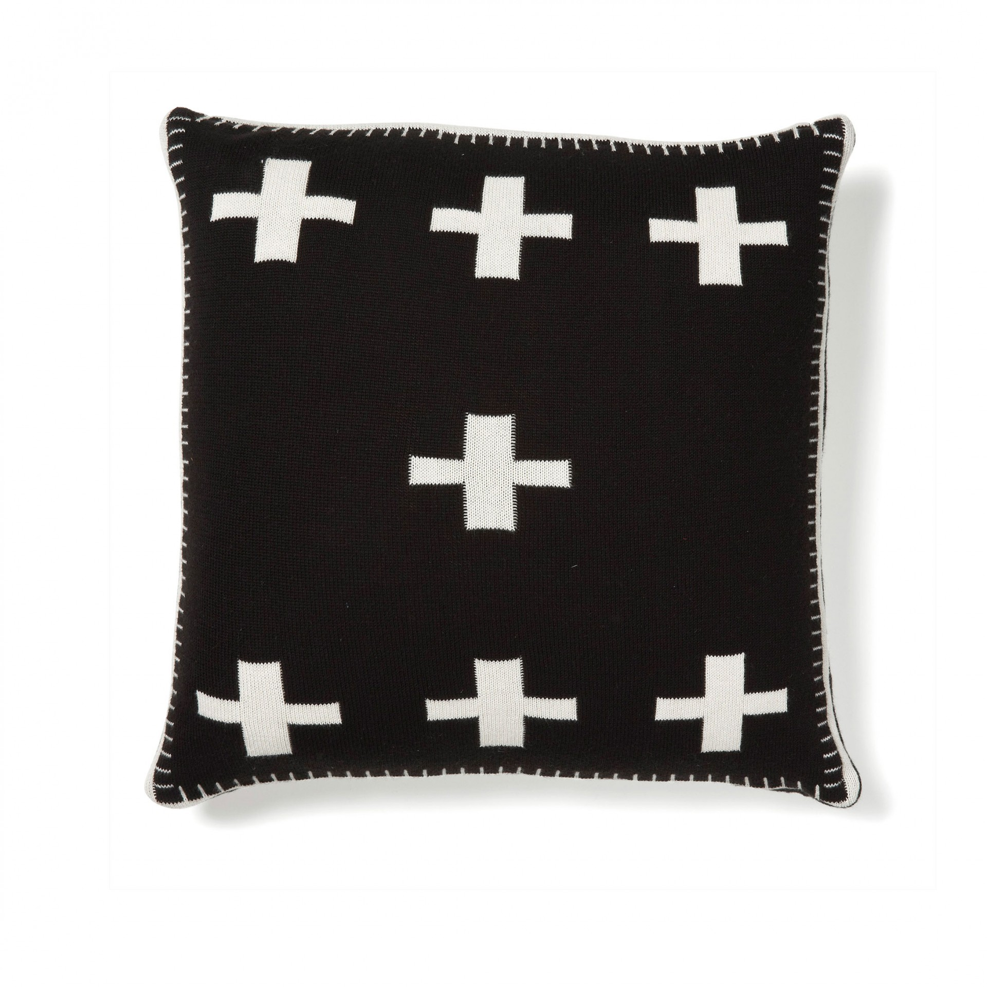 Capa de almofada reversível, preto/branco, 45x45