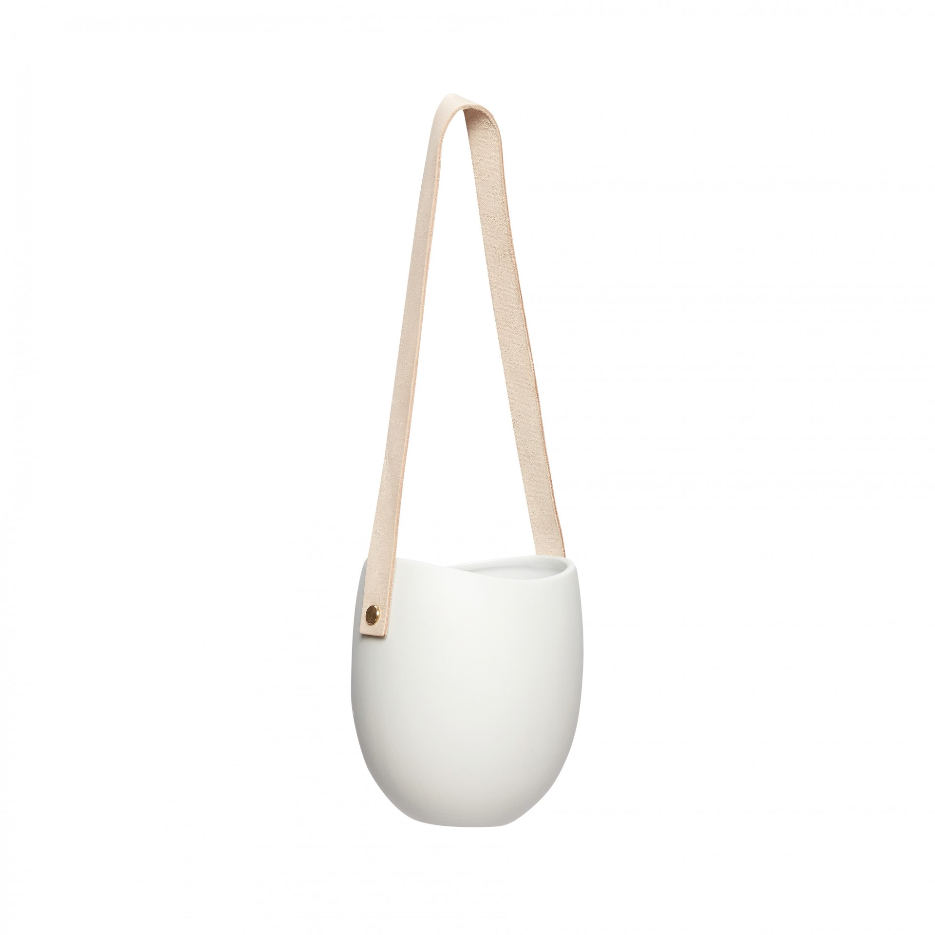 Vaso suspenso, cerâmica, branco, Ø12x15
