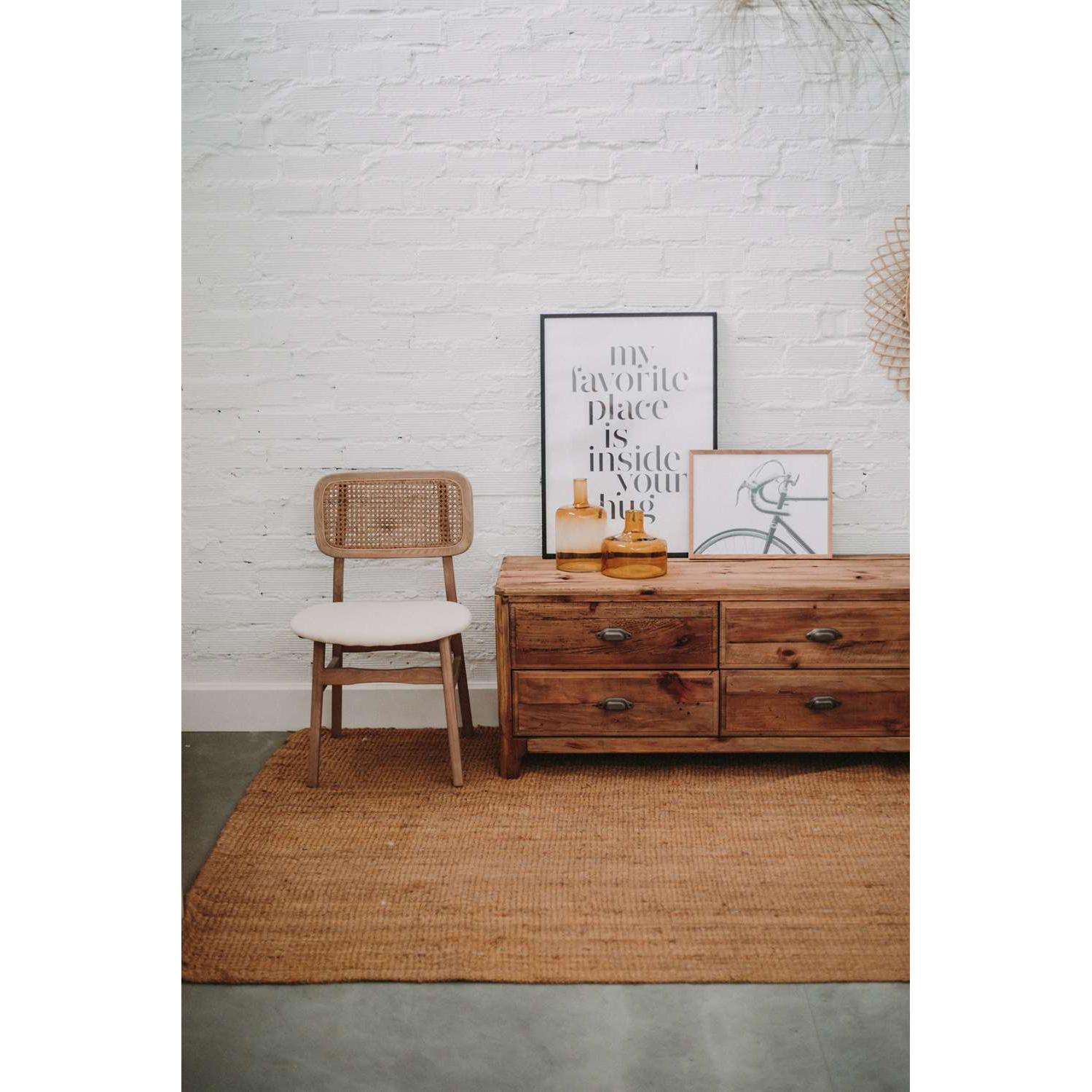 Cadeira Bory, madeira de olmo natural