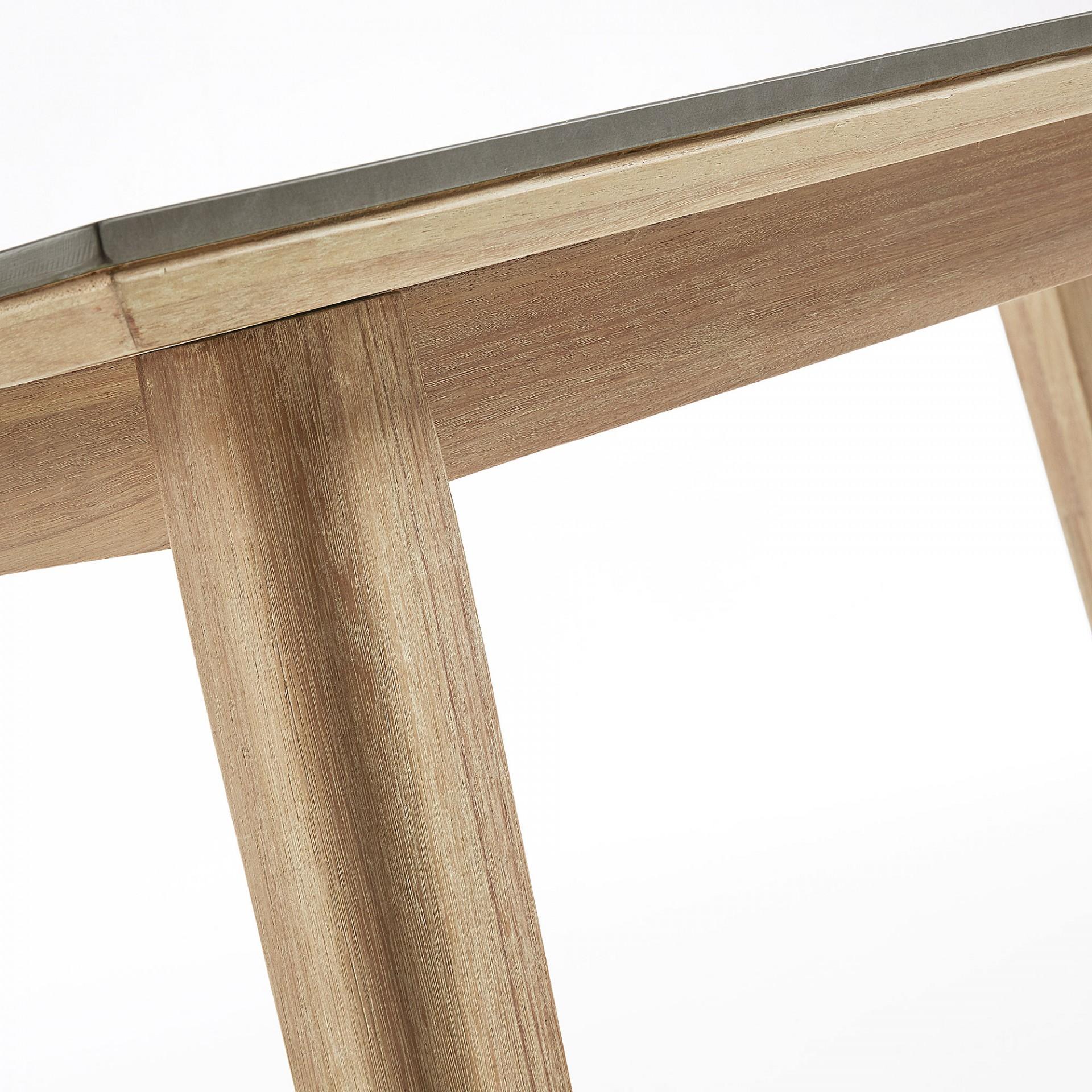 Mesa de jantar Close, poli-cimento/madeira de eucalipto, 160x90