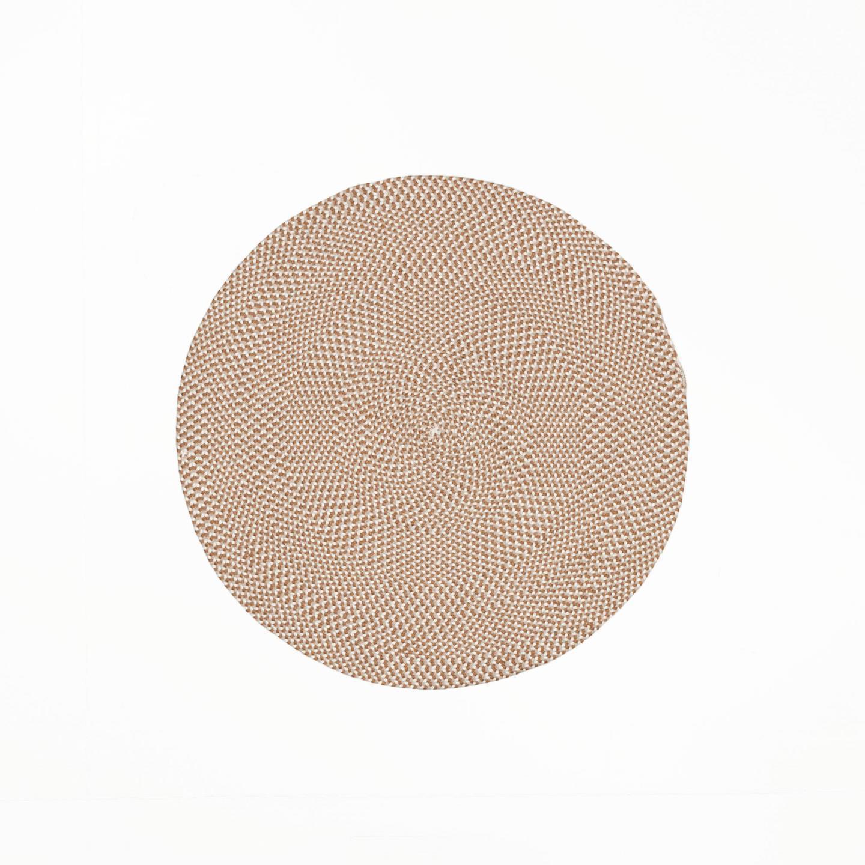 Tapete Rod, anti-alérgico, PET reciclado, branco/bege