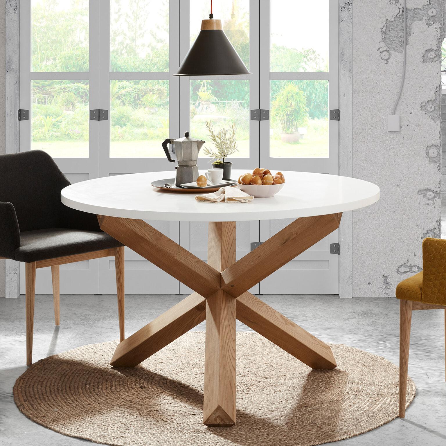 Mesa Latus, madeira de carvalho/MDF lacado