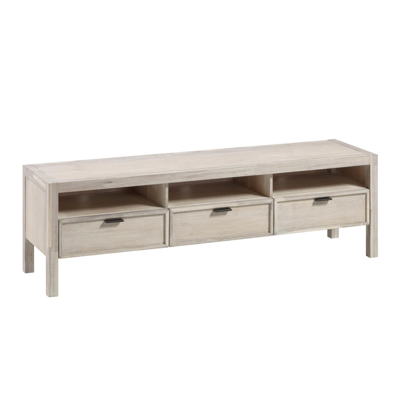 Móvel TV Aleni, madeira de acácia, 165x50