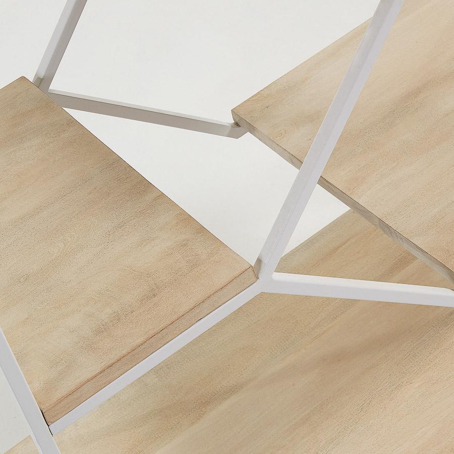 Estante Posh, madeira de manga/metal, 80x93,5