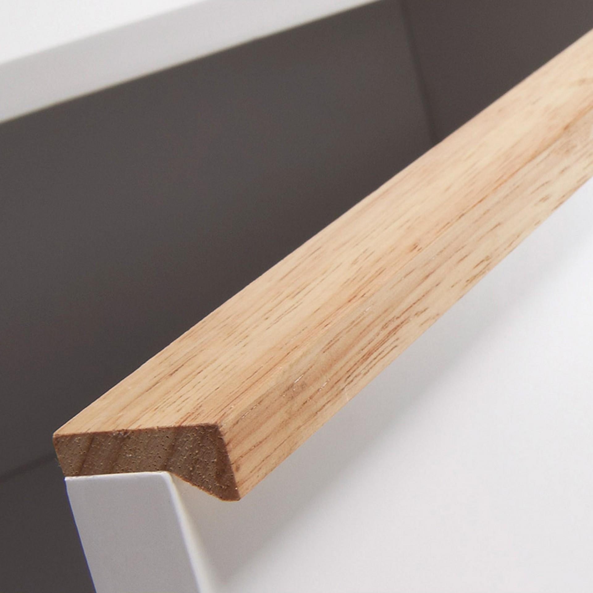 Aparador Melon, madeira de carvalho/MDF lacado, 160x72