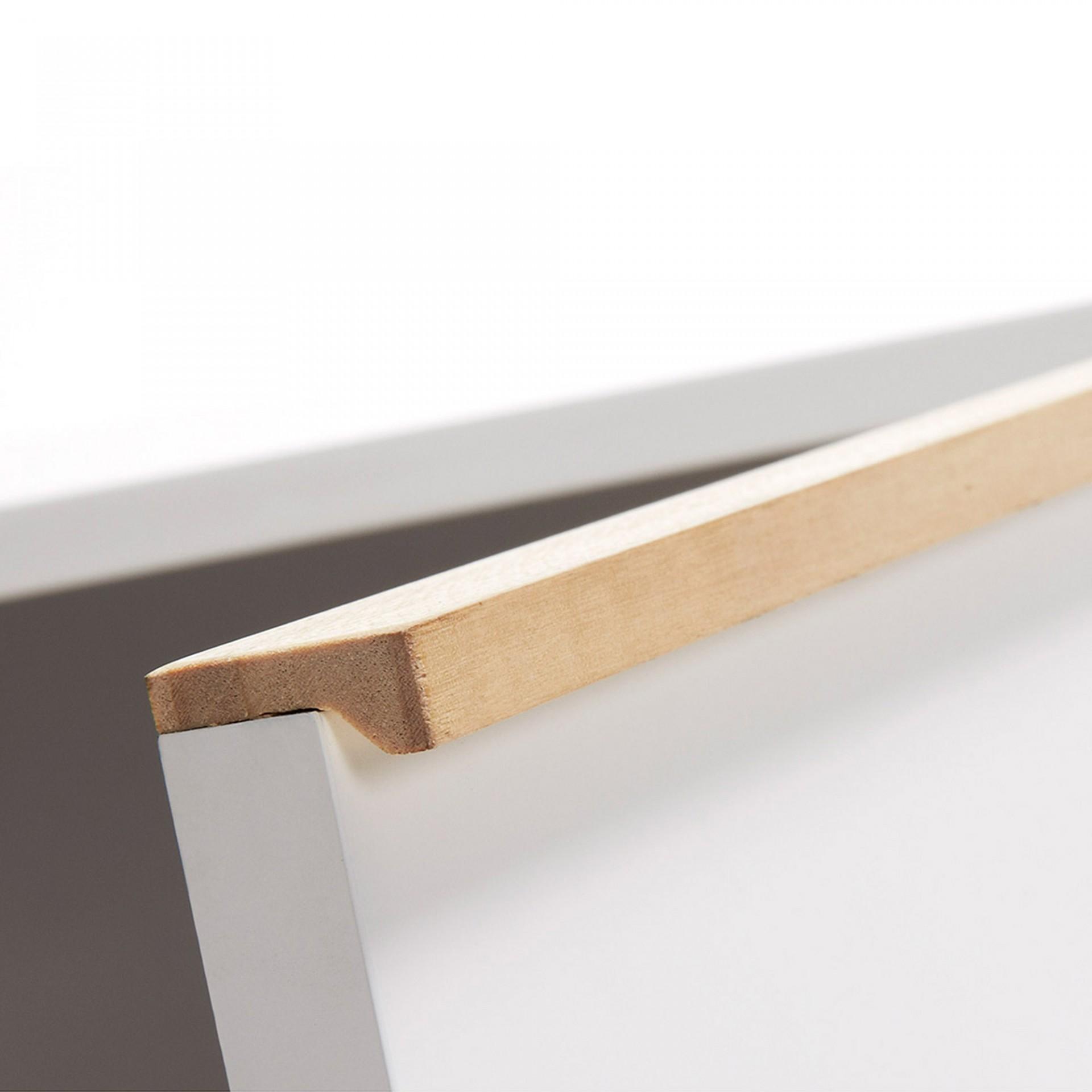 Aparador Melon, madeira de carvalho/MDF lacado, 90x72