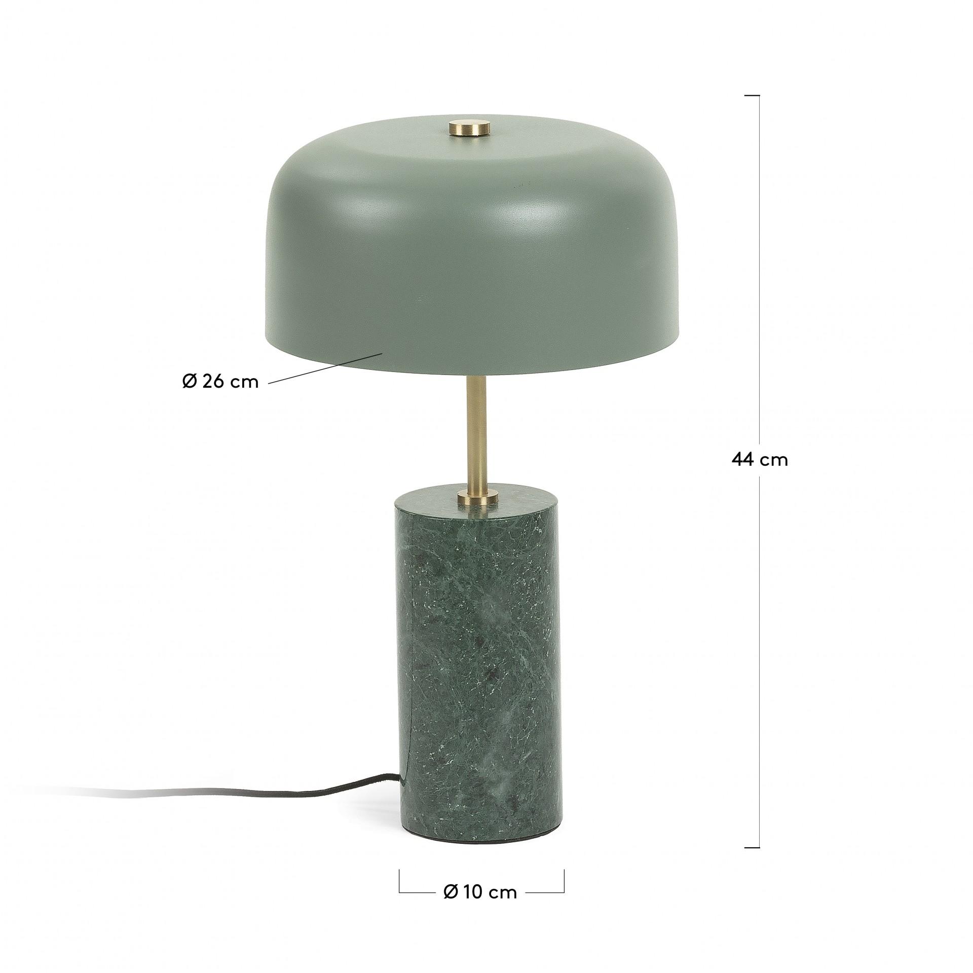 Candeeiro de mesa Videli, metal/mármore, Ø26x44