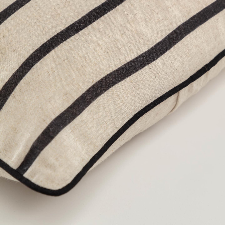 Capa de almofada Sagui, bege/preto, 45x45