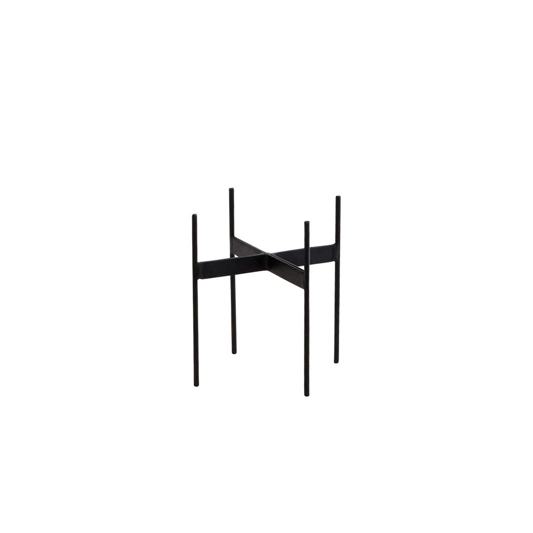 Suporte p/vaso, metal, preto, 18x17