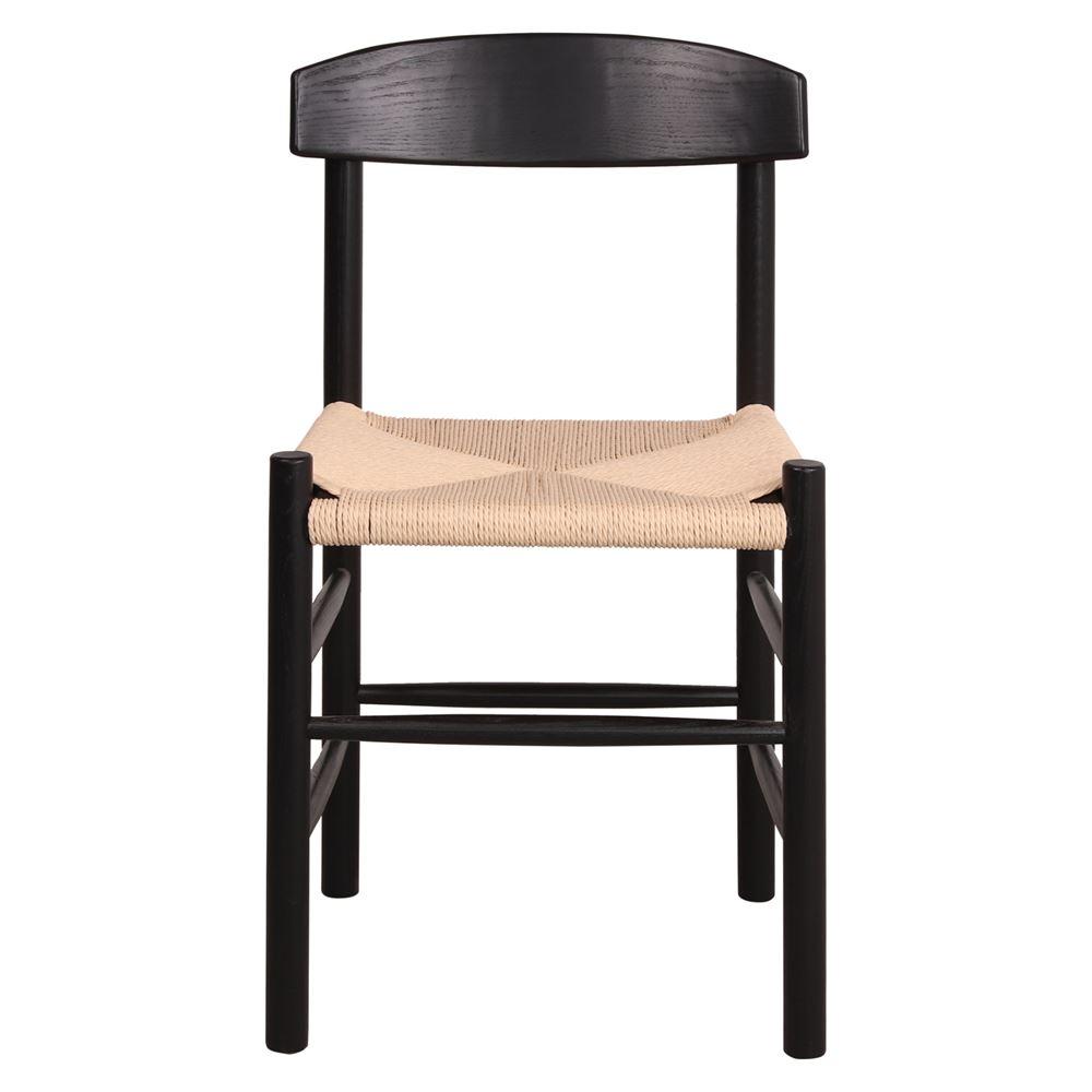 Cadeira Walt, madeira de freixo, preto