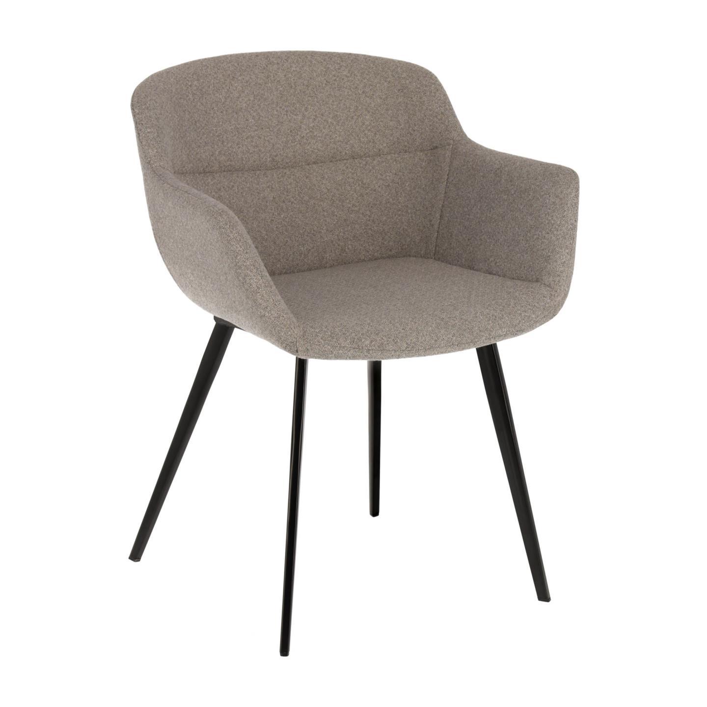 Cadeira Nidya, c/braços, estofada