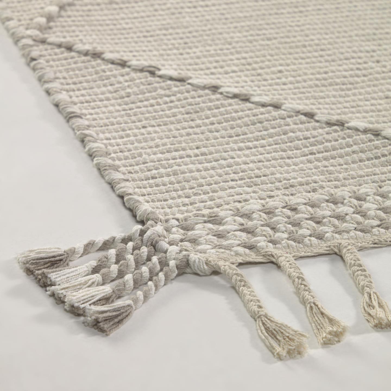 Tapete Nuria, c/franjas, algodão, 230x160