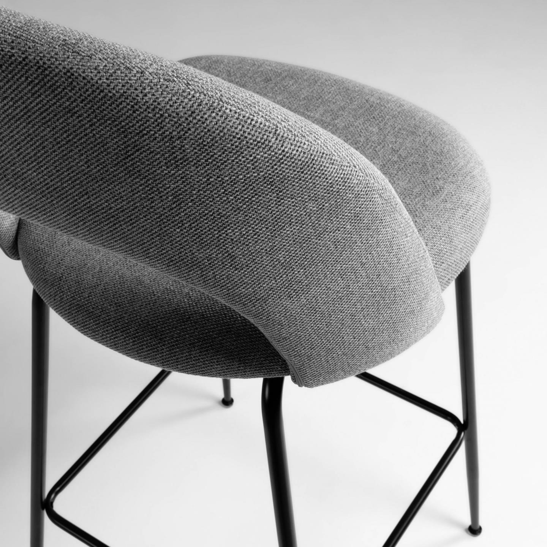Cadeira de bar Mahlia, estofada, 65cm