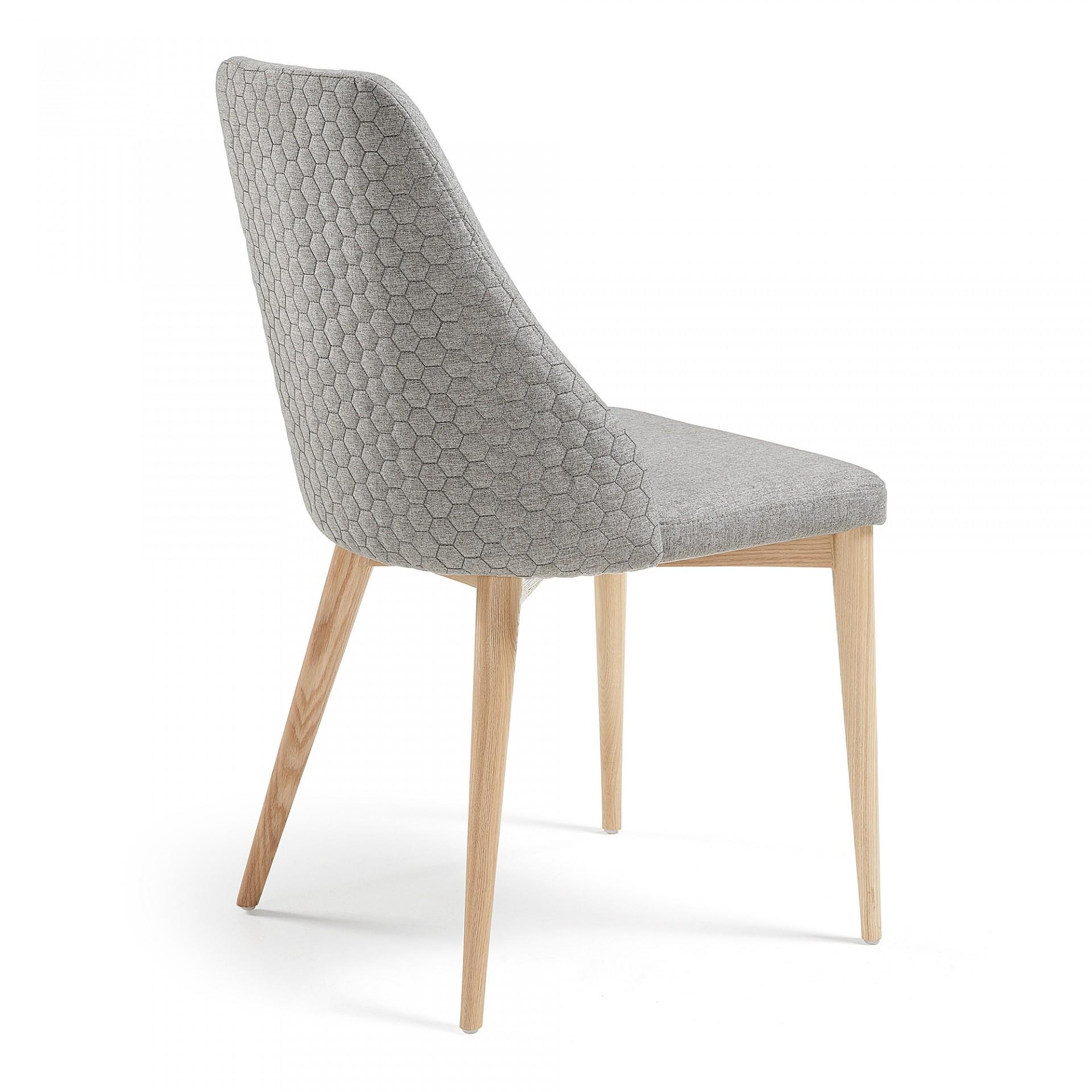 Cadeira Rose, estofada, madeira de freixo