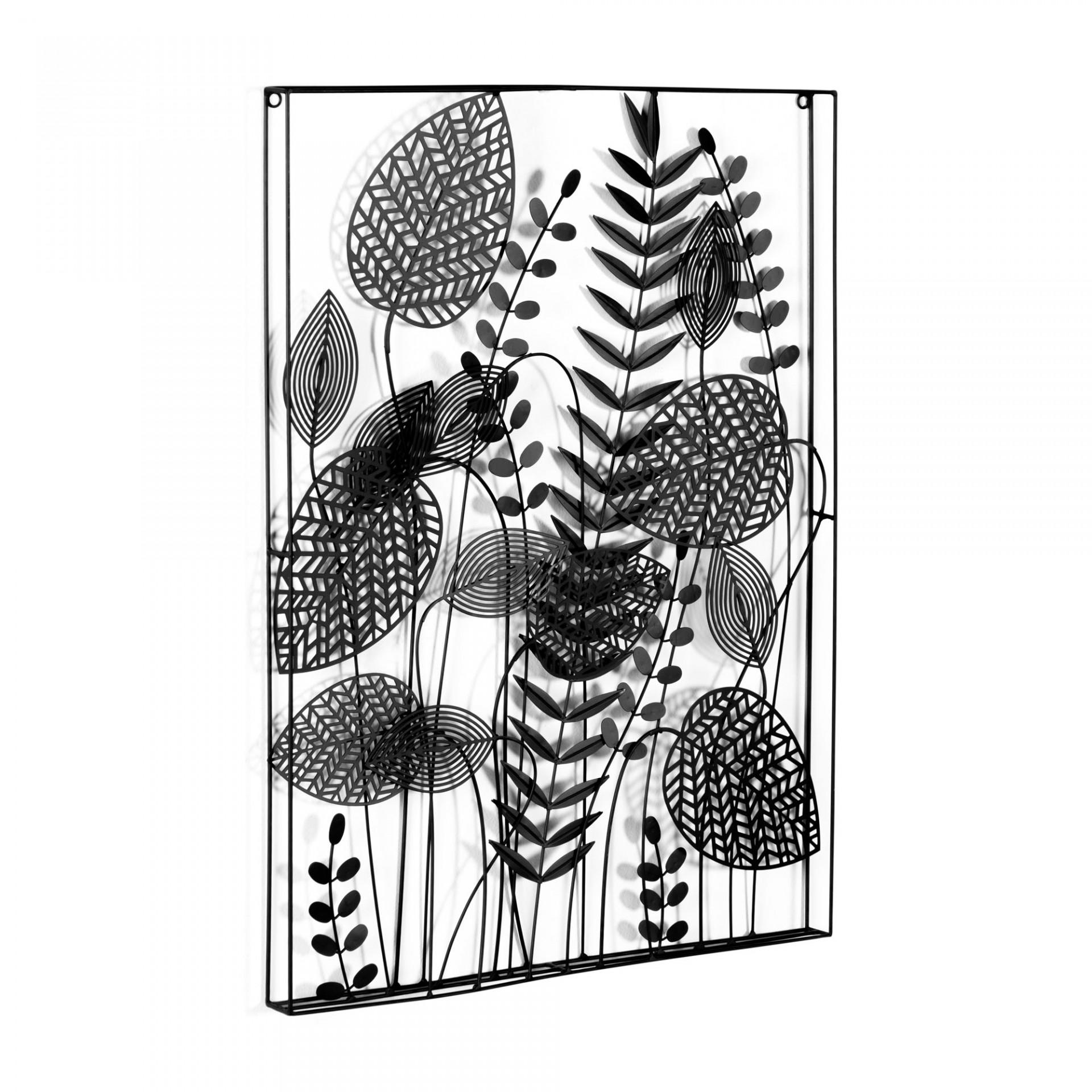 Quadro de parede Decenia, metal, preto, 81x61