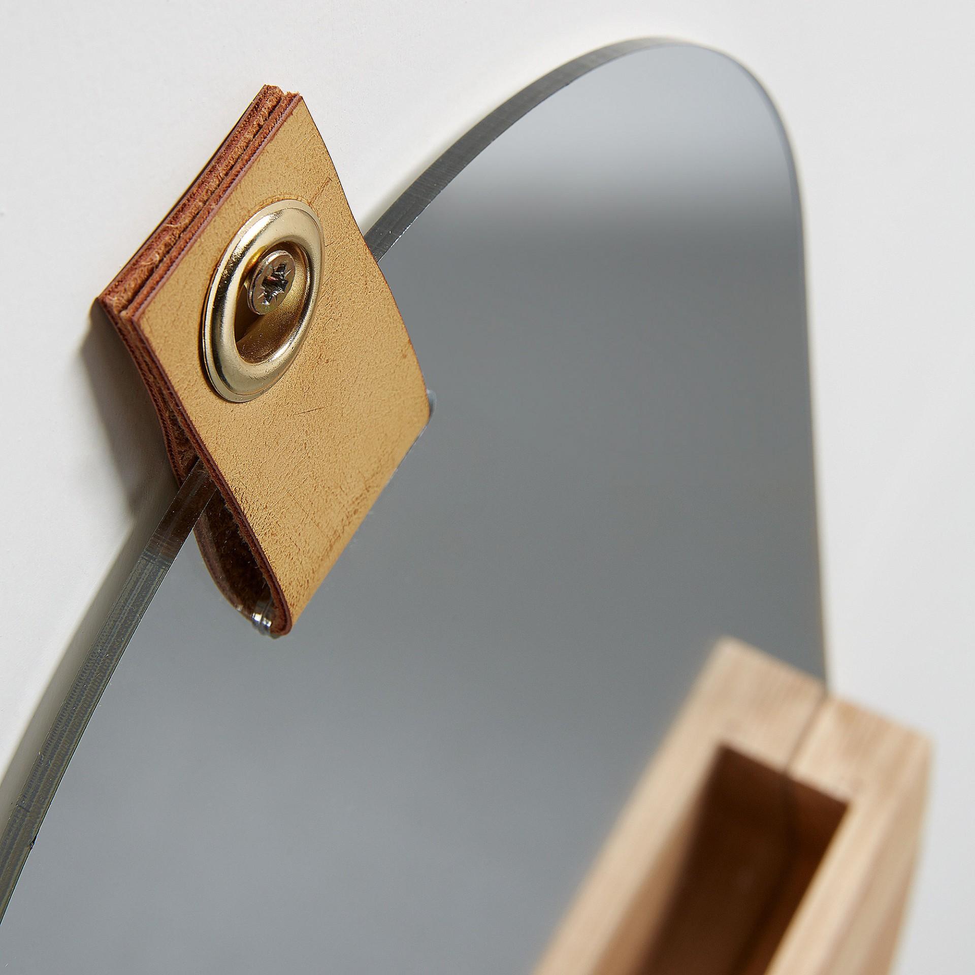 Espelho Bren, oval, madeira, 38x23