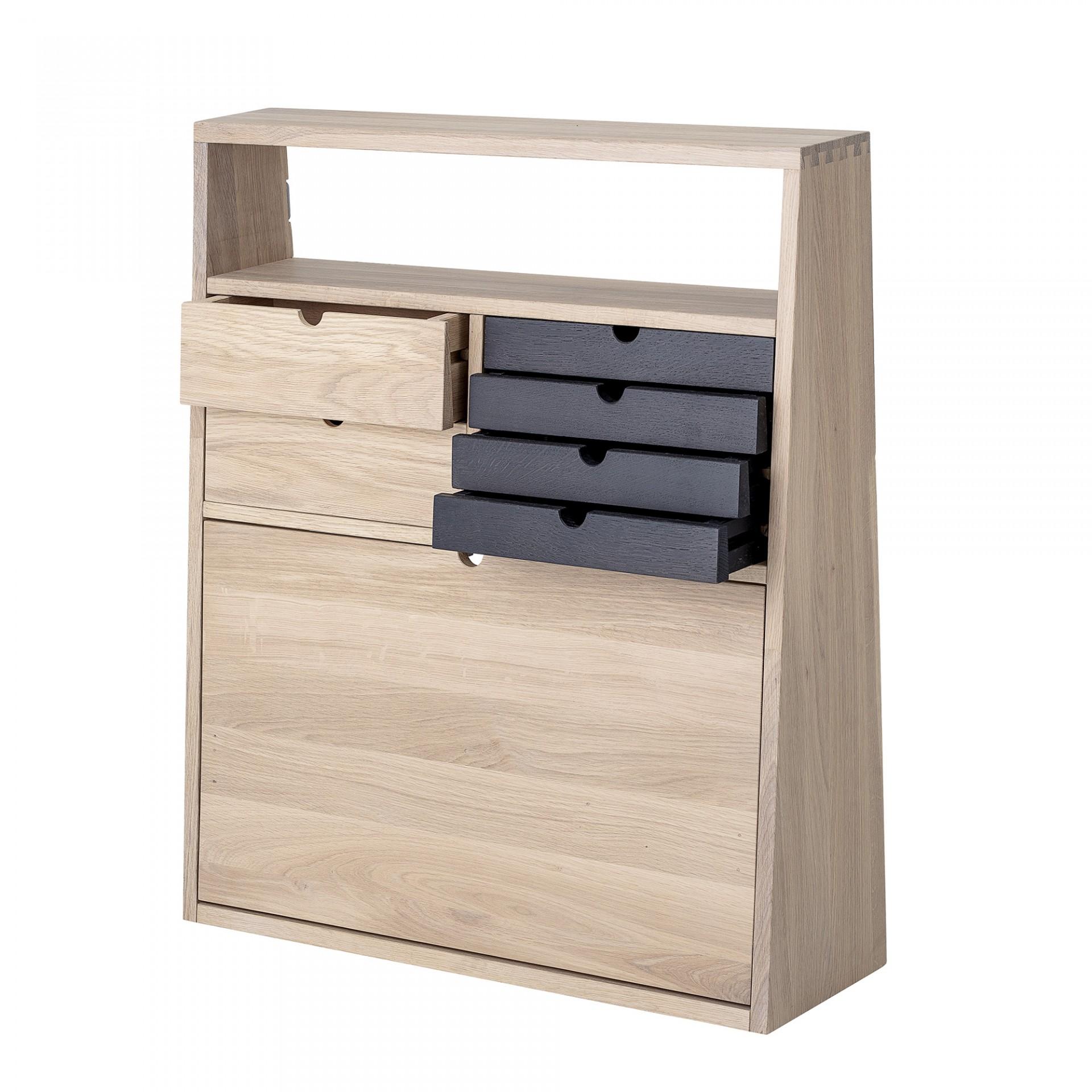Secretária de parede Fabian, madeira de carvalho, 70x80