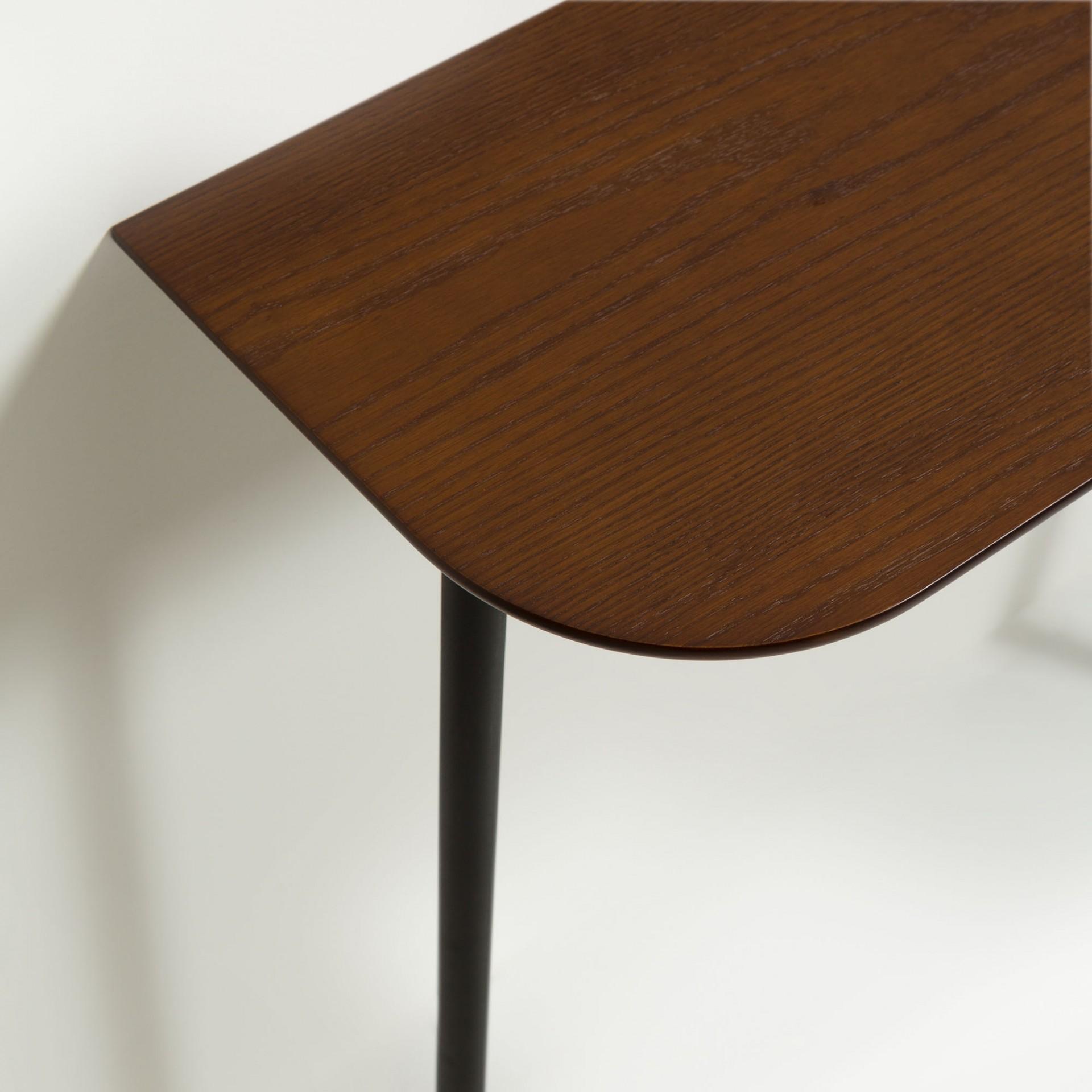 Consola Marcol, c/cabide, madeira de carvalho/nogueira, 80x160