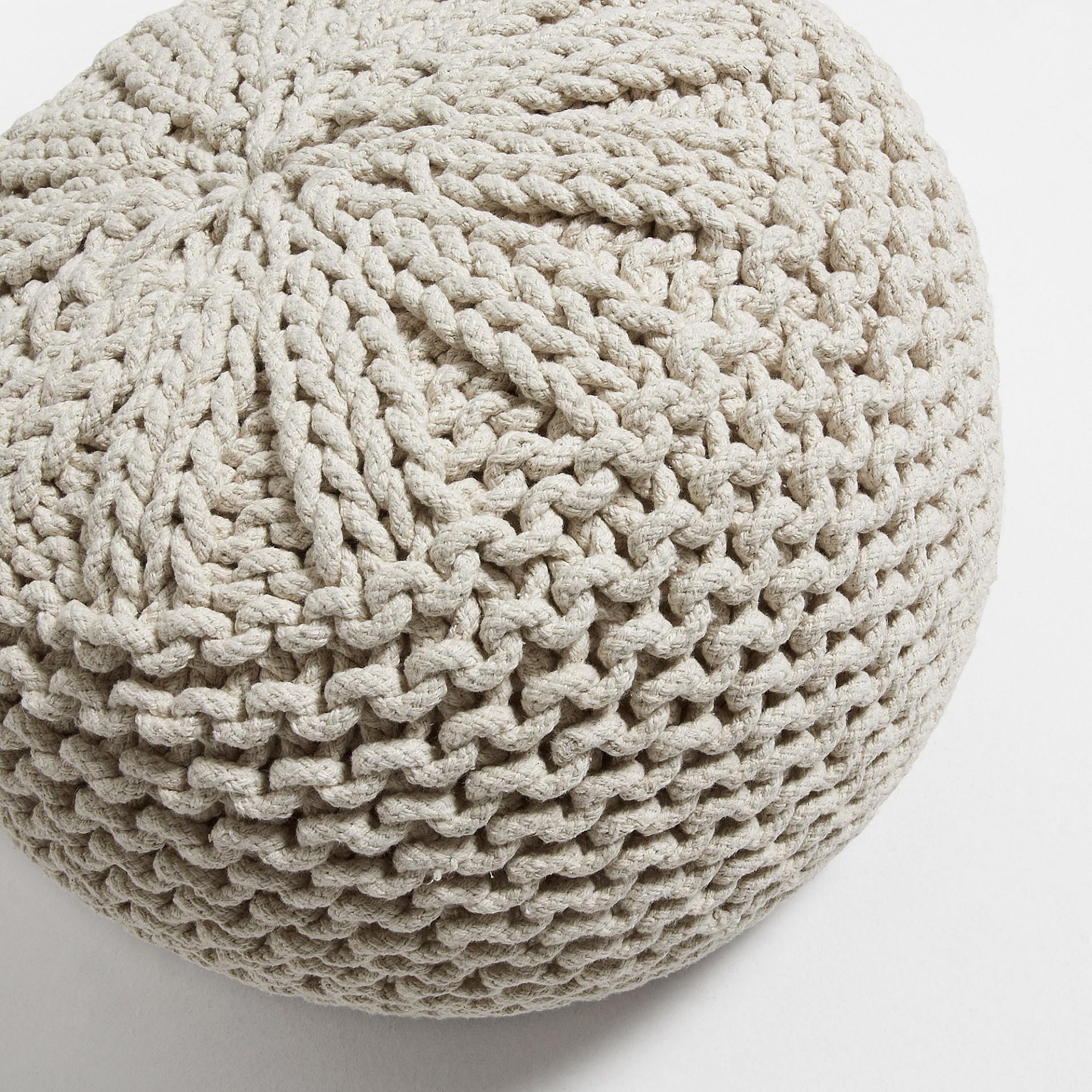 Pufe Shote, malha de croché, Ø50x35