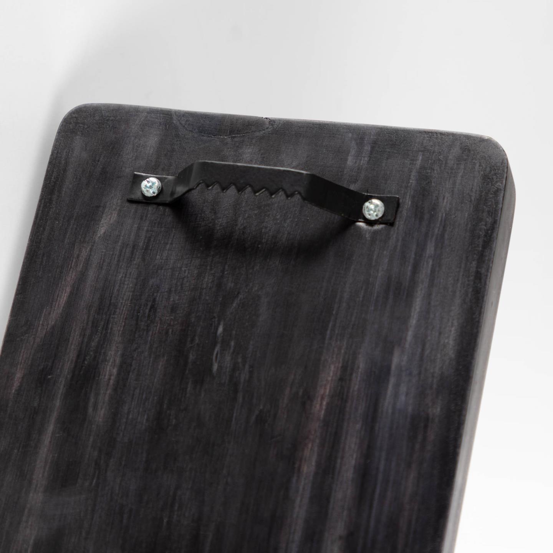 Aplique Gala, madeira/metal, preto/dourado