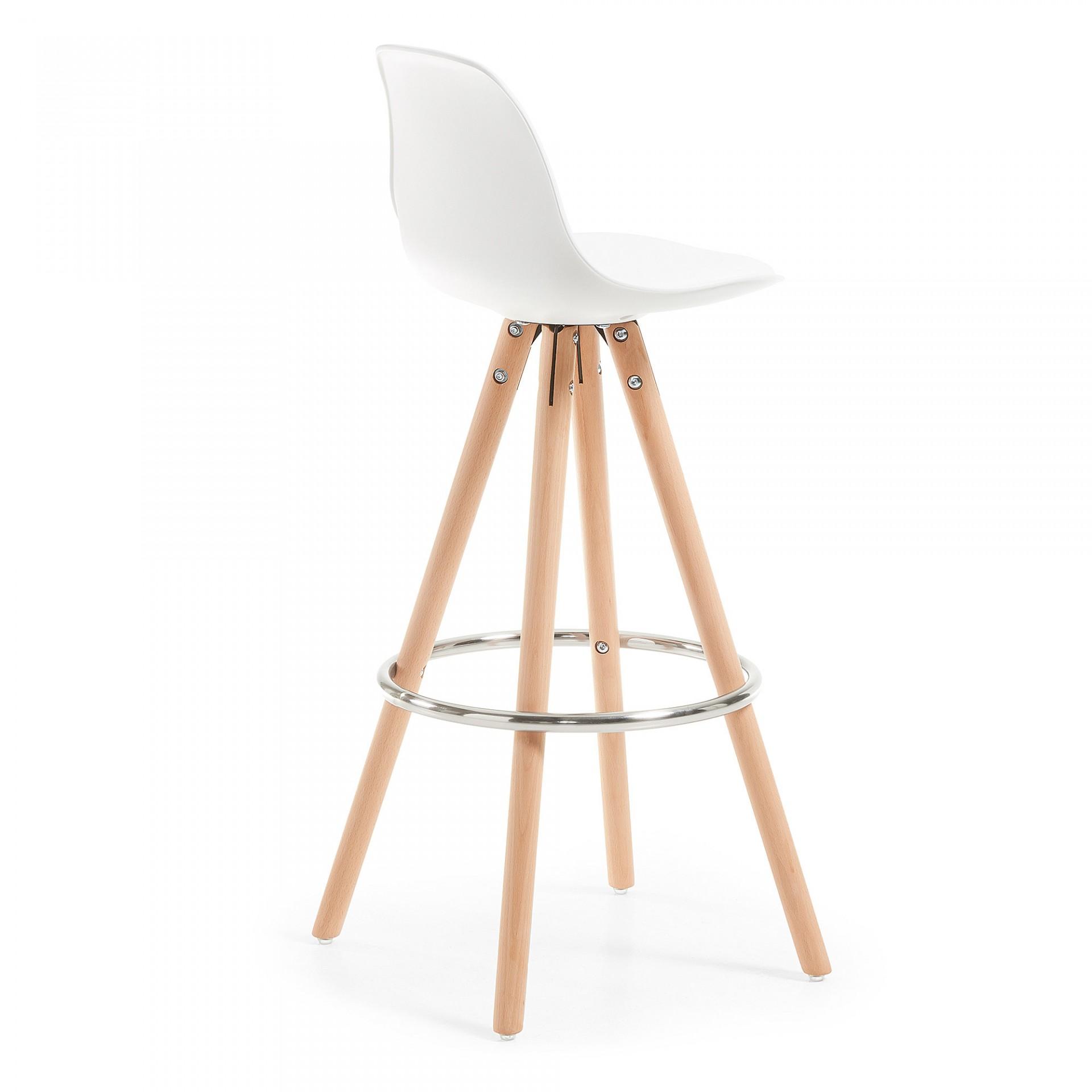 Cadeira de bar Slade, acolchoada, branco, 74cm