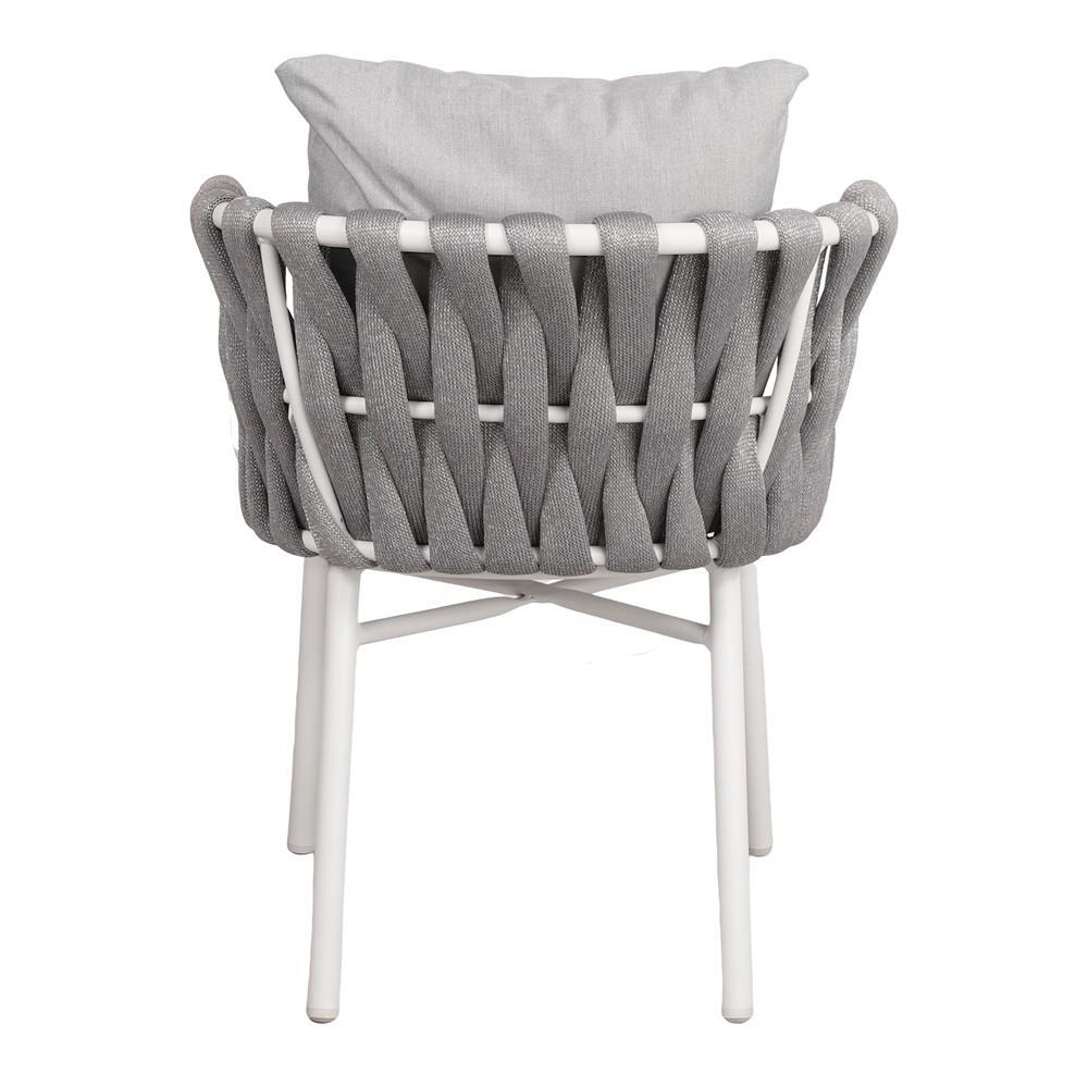 Cadeira Molti, c/almofada, cinza