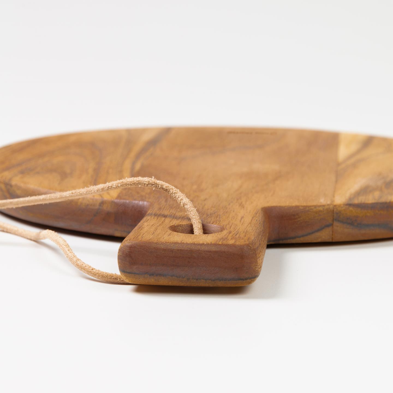 Tábua de cozinha Silma, madeira de acácia, Ø25cm