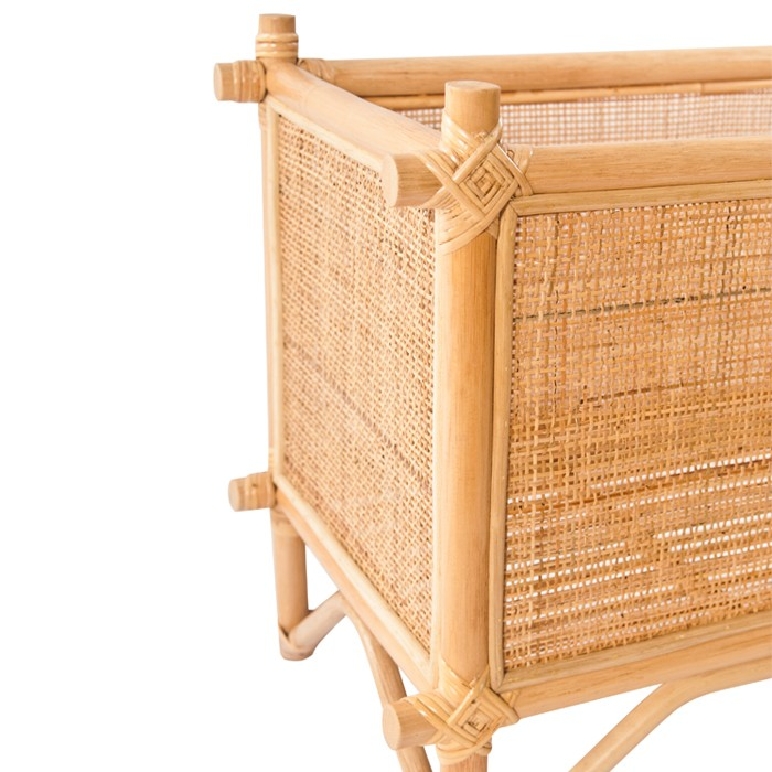 Floreira rectangular, bambu/rattan natural