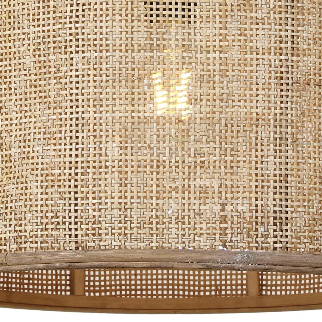 Candeeiro de tecto Cylinder, bambu/rattan natural, Ø40x40