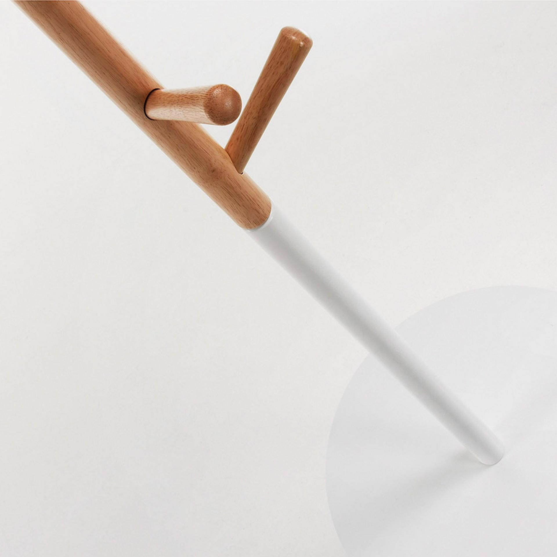Cabide de pé em madeira de seringueira, Ø40x170