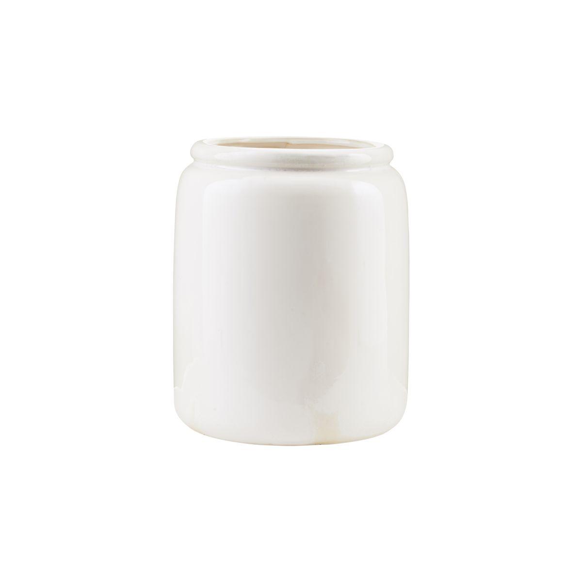 Vaso Just, cerâmica, branco, Ø23X28