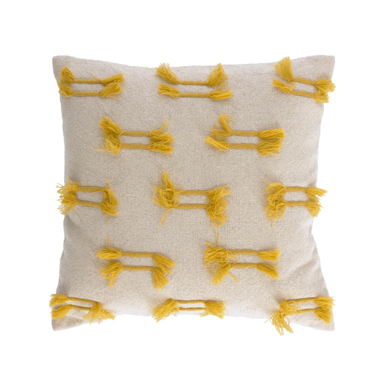 Capa de almofada Caitin, bege/mostarda, 45x45
