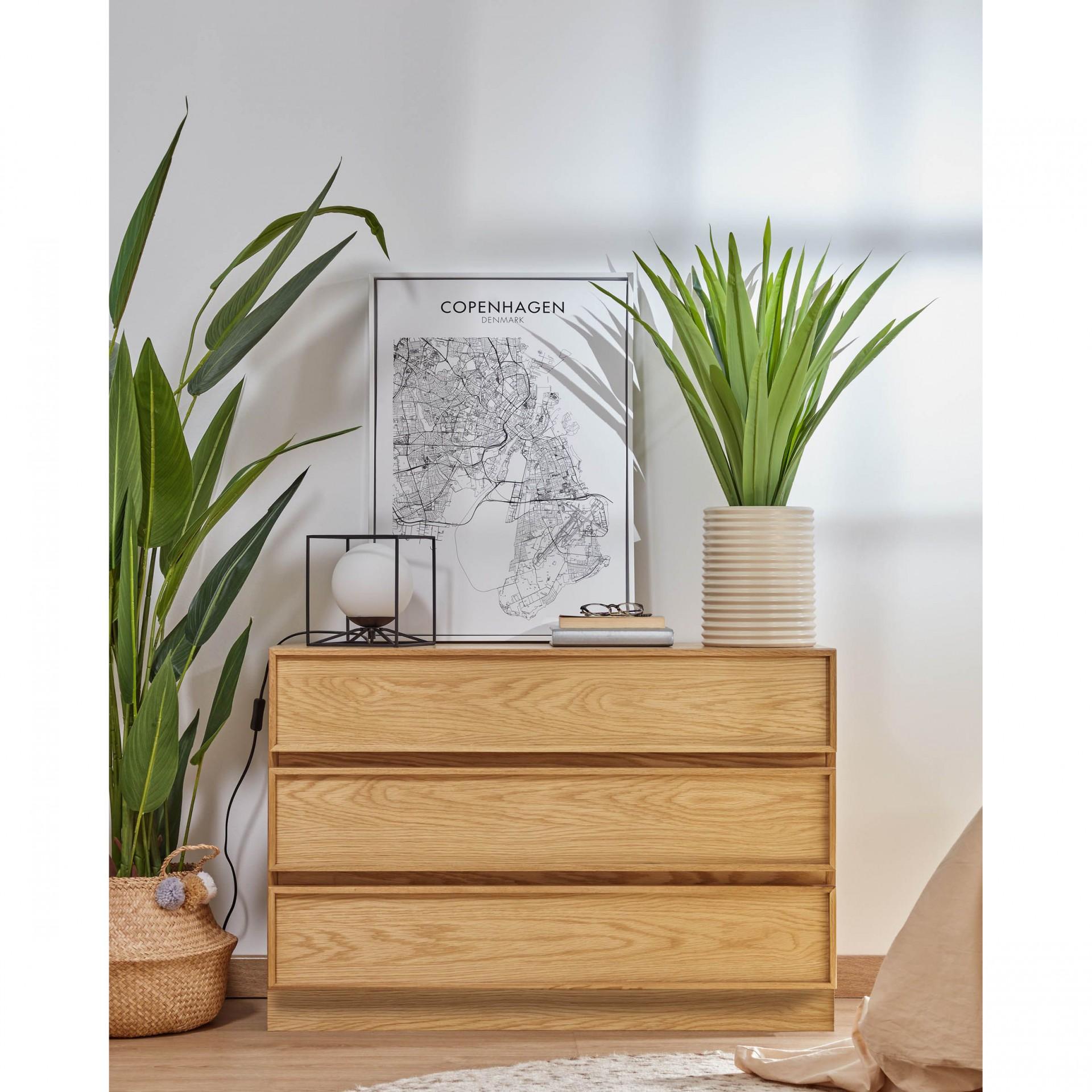 Cómoda Taia, madeira de carvalho, 100x68