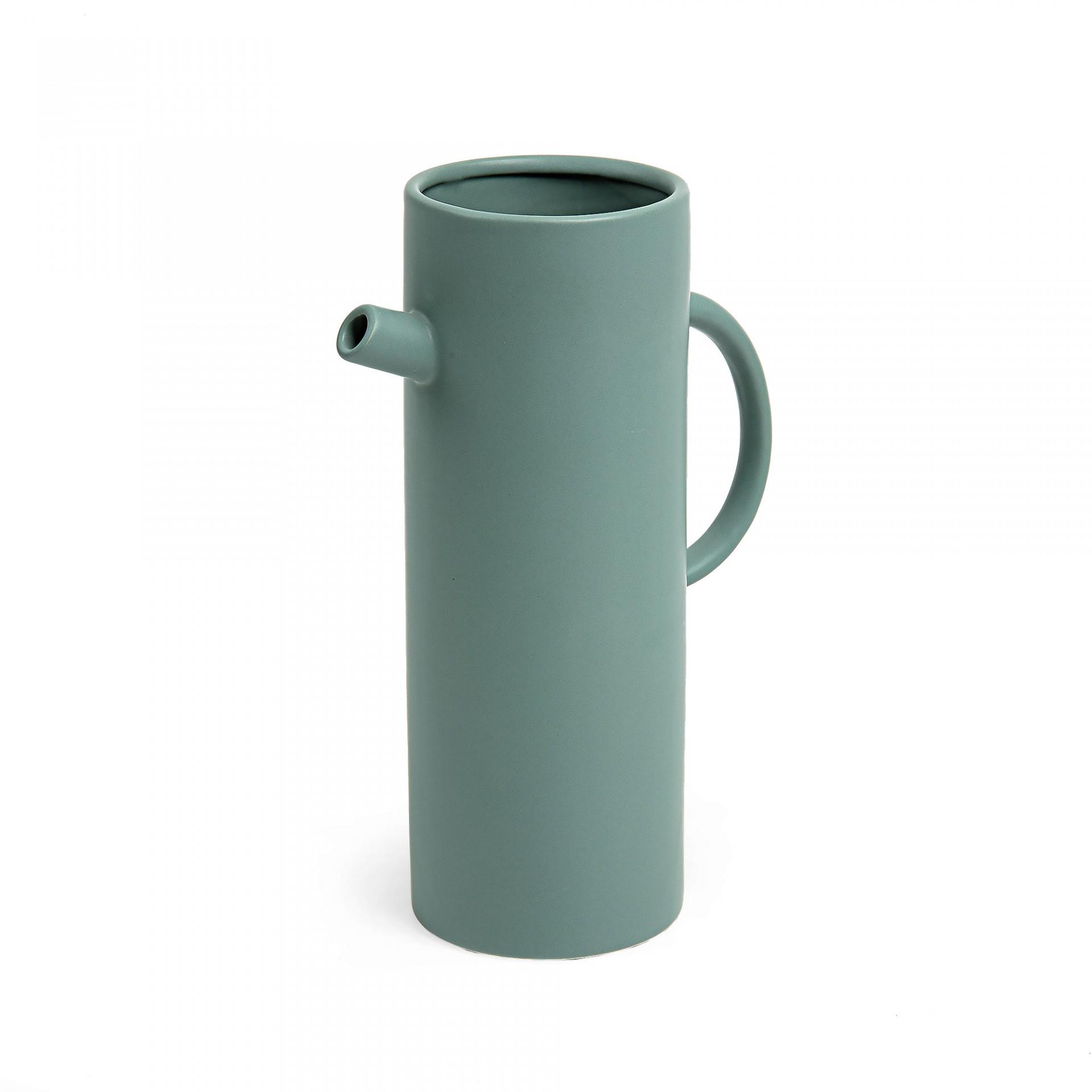 Jarra Hermi, cerâmica, verde fosco, Ø18x30